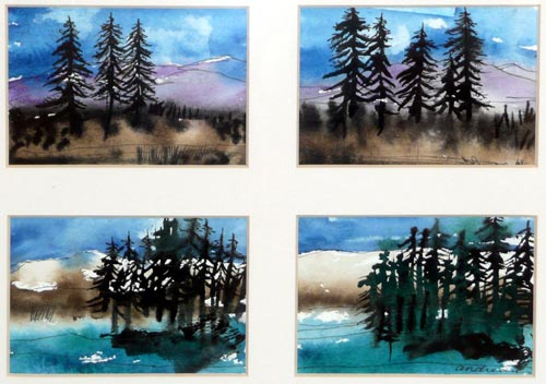 water color forest